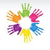 рука цветка Стоковое Изображение RF
