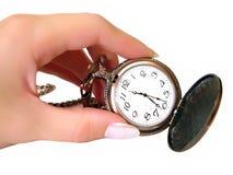 рука часов золотистая старая Стоковое фото RF