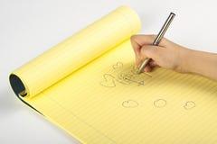 рука чертежа Стоковые Изображения RF