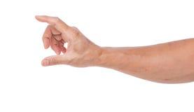 Рука человека изолированная на белой предпосылке Стоковое Фото