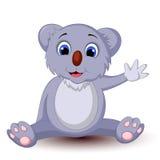 рука шаржа коалы развевая Стоковая Фотография