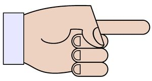 Рука шаржа Стоковые Изображения