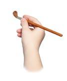 рука щетки Стоковые Фотографии RF