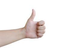 Рука любит концепция на белой предпосылке Стоковое Изображение RF