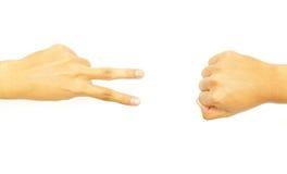 рука 2 кулачка перста Стоковая Фотография RF