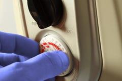 Рука b подогревателя установки холодная Стоковые Фотографии RF