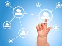 Социальная сеть. Стоковые Фотографии RF