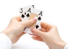 рука blackjack Стоковое фото RF