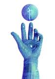 рука cyber робототехническая Стоковое Фото