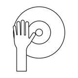 Рука dj играя винил тонко выравнивается Стоковое Изображение RF