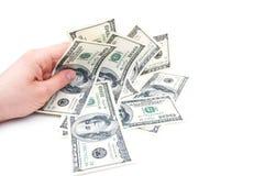 рука dolars Стоковые Фотографии RF