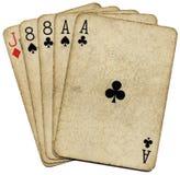 рука eights тузов мертвая укомплектовывает личным составом Стоковые Фотографии RF