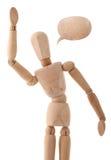 рука flapping его человек деревянный стоковые фотографии rf