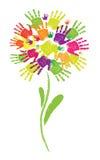 рука flower02 Иллюстрация вектора