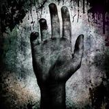 рука grunge предпосылки Стоковые Изображения RF