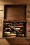 рука handcraft работы инструментов srtist Стоковое Изображение