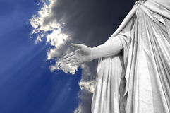 рука jesus Стоковые Фото