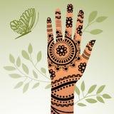 Рука Mehindi Стоковое Изображение RF