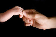 рука newborn Стоковая Фотография RF