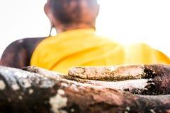 Рука ` s Будды показывает безмятежность стоковое изображение rf
