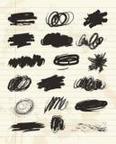 Рука Scribble нарисованная в щетке Текстура мела угля Стоковое Изображение RF