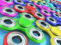 Рука Spiners 3d представляет на голубой предпосылке Стоковое фото RF