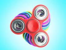 Рука Spiners 3d представляет на зеленой предпосылке Стоковые Изображения
