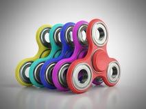 Рука Spiners 3d представляет на серой предпосылке Стоковые Изображения RF