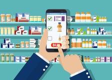 Руки аптекаря руки держа таблетку Стоковое Изображение