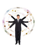 руки бизнесмена делая ветрянку дег 6 Стоковая Фотография RF