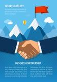 Руки бизнесмена тряся совместно для успеха согласования Стоковая Фотография RF
