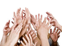 руки вверх стоковая фотография rf