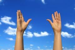 руки вверх Стоковое фото RF