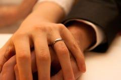 Руки венчания Стоковое Изображение RF