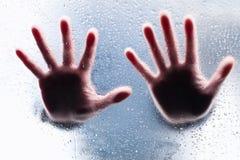 руки выпрямляют силуэты 2 Стоковые Фото