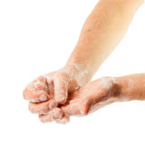Руки в пене Стоковое Фото