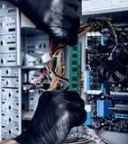 Руки в перчатках с RAM Стоковая Фотография RF