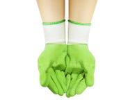 2 руки в перчатке Стоковая Фотография