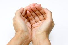 Руки в удерживать стоковая фотография