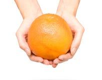 руки грейпфрута Стоковое Фото