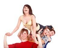 руки группы девушки держат людей людей Стоковые Изображения