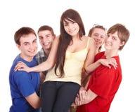руки группы девушки держат людей людей Стоковое Изображение RF