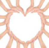 Руки делают форму сердца стоковое фото rf