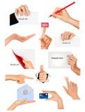 руки дела различные держа предметы установлено иллюстрация штока
