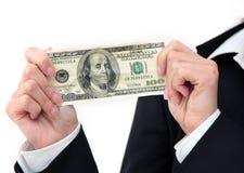 руки доллара крупного плана Стоковое Фото