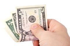 руки доллары человека удерживания стоковые фотографии rf