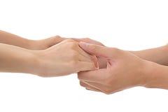 руки держа женщину человека стоковое изображение