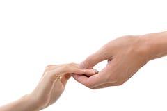 руки держа женщину человека стоковые изображения
