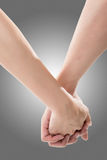 руки держа женщину человека стоковая фотография rf