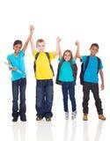 Руки детей вверх стоковое изображение